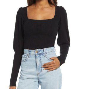 Reformation Piazza Square Neck Cashmere Sweater XL